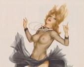 44#  Vintage Rare Shear Dress Vargas Pin Up Girl Playboy  Picture