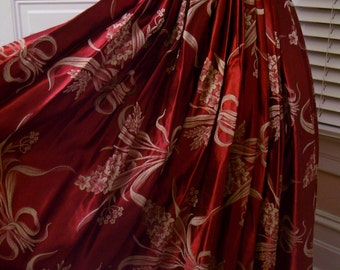 Vintage 40's to 50's Red Gorgeous Halter Gown Perfect For Christmas
