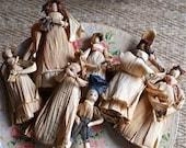 Vintage Corn Husk Dolls