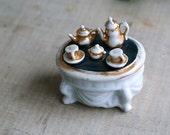 Antique Conte & Boeheme Porcelain Tea Time Trinket Box