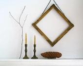 Antique Brass Candlestick Holders