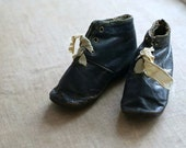 Victorian Leather Baby Shoes