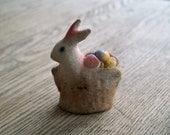 Antique Chalkware Bunny Rabbit