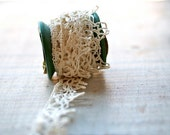 Edwardian Hand Tatted Lace Trim, Wound on a Spool, Sewing, Embellishment