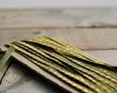Antique Green and Gold Metallic Trim, Metallic Ribbon, Sewing, DIY, Supplies, Fashion, Home Decor Project