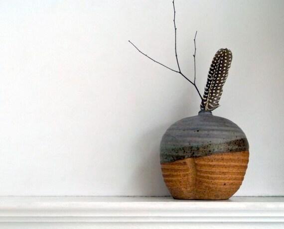 Vintage Handmade Studio Pottery Bud Vase