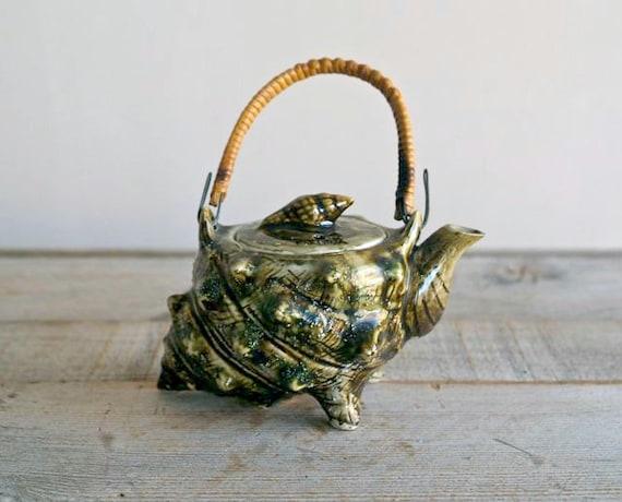 Reserved For Katerina Vintage Ceramic Shell Teapot