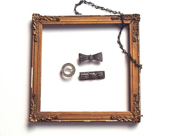 Vintage Rhinestone Brooch Collection, Three Antique Rhinestone Brooches, 1940s Sparkling Rhinestone Pins