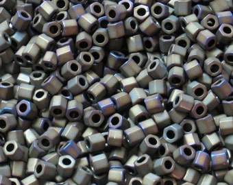 8/0 TOHO - #614 - Matte Iris Brown Hex Seed Beads- 20gr - SB13