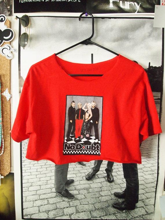 NO DOUBT// Vintage 90s Style Pop Band Scoop Neck Crop Top, Gwen Stefani Free Size