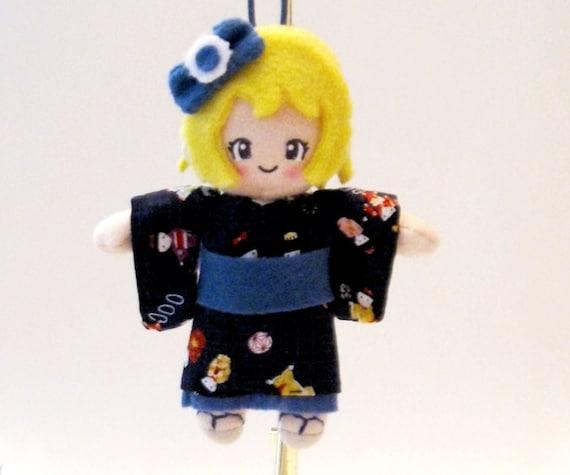 Japanese Doll Kimono Plush: Nanako-Chan