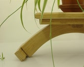 Turnadaisy Woods 1 Recycled lazy susan style display for Bonsai Orchid or any special plant