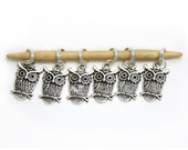 6 Knitting Stitch Markers -Owls