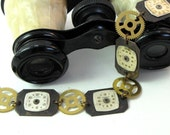 Industrial Steampunk Dieselpunk OOAK Bracelet Vintage Watch Dials Gears Exclusive Design Mystic Pieces