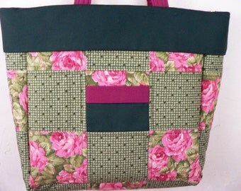 Quilted Tote-Romantic Floral CLEARANCE
