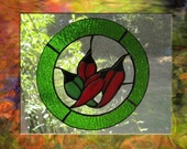 Red Hot Chili Peppers - Stained Glass Suncatcher