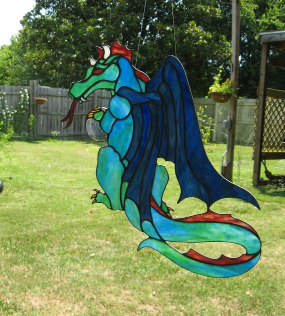 Dragon Stained Glass SunCatcher