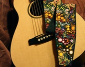Vegan Guitar Strap-Galactic pattern-music-gifts for musicians-handmade-canvas-unique gifts-gifts for boyfriends-gifts for girlfriends-cool