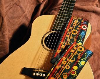 Vegan Guitar Strap-Jitterbug pattern