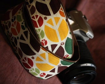 Vegan Camera Strap-Peace Design