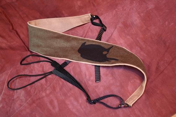 Vegan Cradle Banjo Strap-Solitary Crow-with fair trade organic hemp