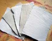 1 small sample piece of handmade paper recycled paper eco friendly paper