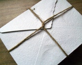 100 white 4x5 inch handmade recycled paper envelopes