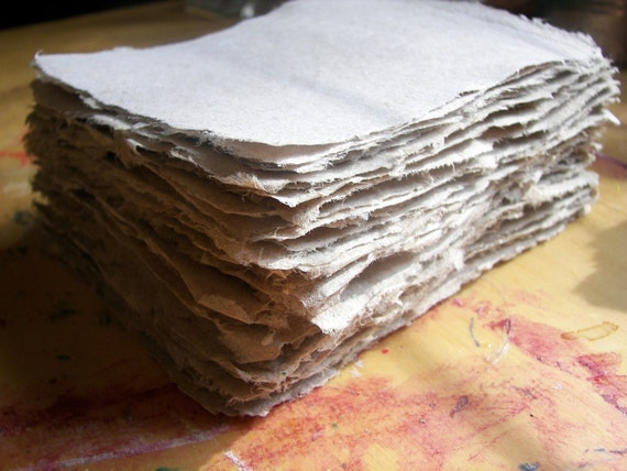 8.5x11 inch sample piece of handmade paper recycled paper eco friendly paper (your choice of color)