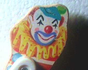 Vintage toy fisher price Wood Circus toy Clown 1962