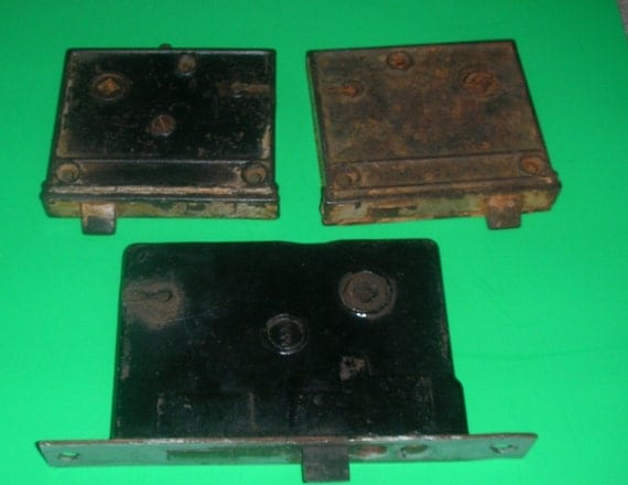 THREE Vintage Rusty Door Latches