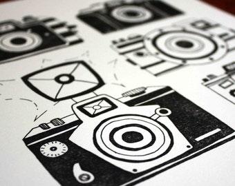 Camera Letterpress Art Print