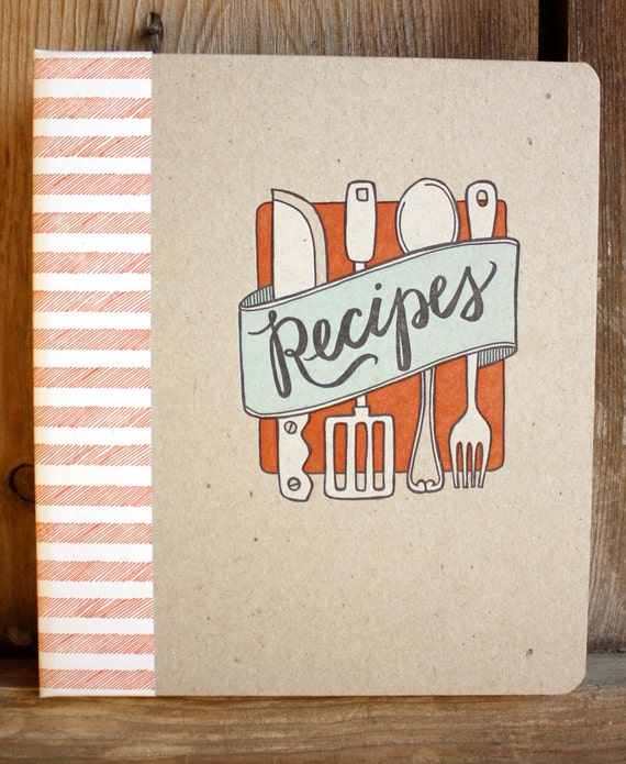 Items similar to DISCONTINUED-Letterpress Recipe Book - on Etsy