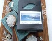 OCEAN SIDE SEA Salts  6 Oz Large Handmade Soap Bar (Vegan Friendly)