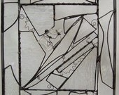Clearly My Heart Belongs To You - - - Stained Glass Clear Panel