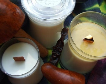 HIPPIE SMOKE All Natural SOY Candle with English Walnut Wooden Wick