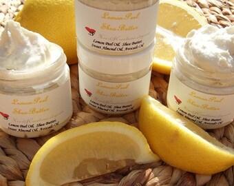 LEMON SHEA BUTTER ~ 2 oz Tub Very Moisturizing with Lemon Essential Oils