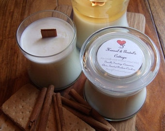 HANSEL and GRETELS COTTAGE All Natural Soy Candle with Walnut Wooden Wick