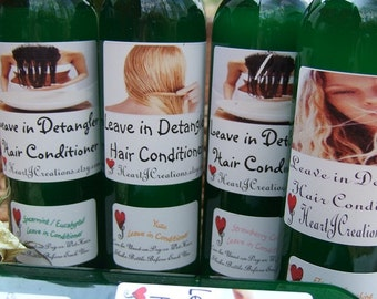 Custom Scented LEAVE IN Conditioning Spray & DETANGLER For all Hair Types - - You Pick the Scent