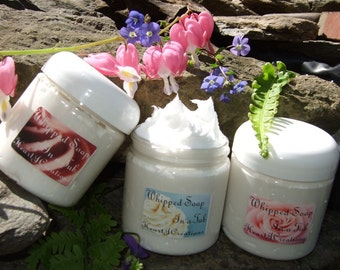 WHIPPED SOAP in a TUB -- Custom Scented - - You Choose The Scent You Wish