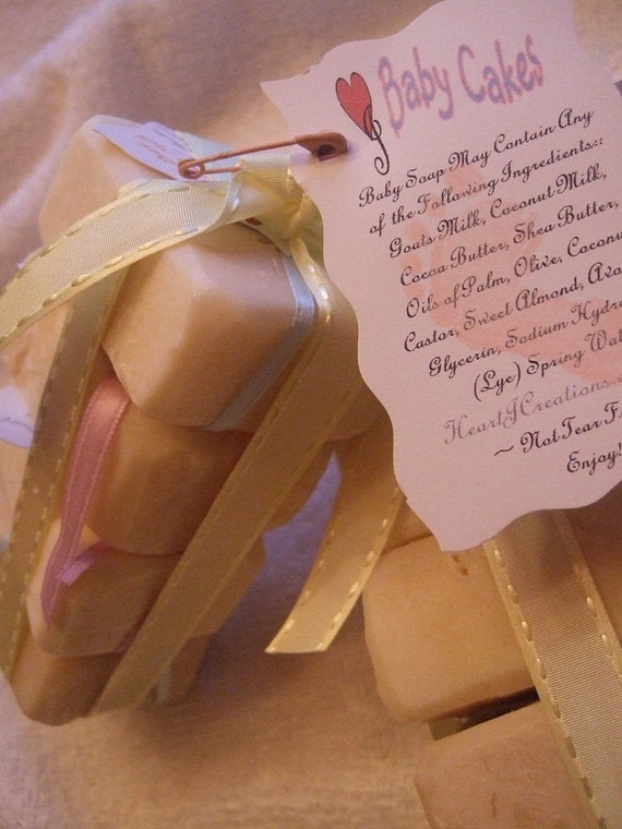 BABY CAKES Dye Free Baby Soap Loaded with Shea Butter Sweet Almond and Avocado Oils