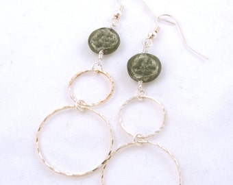 SALE***Open and Closed Circle Earrings