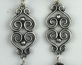 Swirl Earrings in Sterling Silver