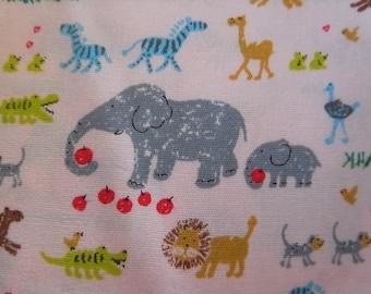 Lovely Zoo - Japanese Cotton Fabric - Half Yard