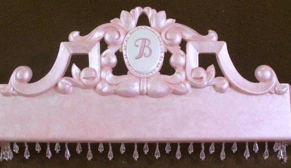 Bed canopy crown with initial for nursery MARKED DOWN TO 99 dollars