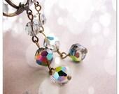 Vitrail Drop earrings vintage swarovski crystals