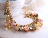 SUNSHINE spring jewelry shabby bracelet  yellow peach