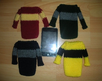 Mini Sweaters in any colors - iPod Touch/ iPhone Blackberry Sleeve Crochet PATTERN ONLY