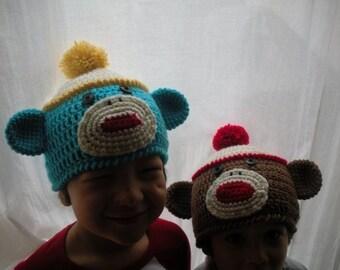 Crochet Sock Monkey Beanie Pattern