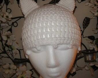 Plain Kitty Cat Beanie Crochet Pattern Baby - Adult