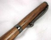 Wooden Ballpoint Pen in Walnut, Slim With Gunmetal Finish